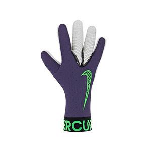 Nike GK Mercurial Touch Elite - Guantes de portero profesionales Nike corte negativo - morados - frontal