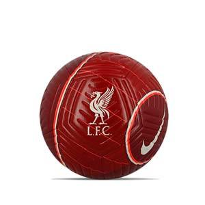 Balón Nike Liverpool Strike talla 5 - Balón de fútbol Nike del Liverpool FC de talla 5 - granate - frontal