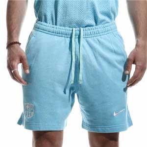 Short Nike Barcelona Beach Wash - Pantalón corto de calle Nike del FC Barcelona de la colección Beach Wash - azul celeste - miniatura frontal