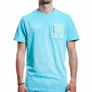 Camiseta algodón Nike Barcelona Beach Wash - Camiseta de algodón Nike del FC Barcelona de la colección Beach Wash - azul celeste - miniatura frontal