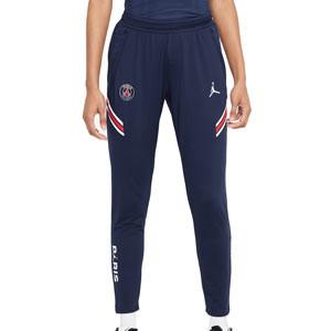Pantalón Nike PSG x Jordan entreno 2021 2022 mujer Strike - Pantalón largo entrenamiento de mujer Nike x Jordan del París Saint-Germain 2021 2022 - azul marino - frontal