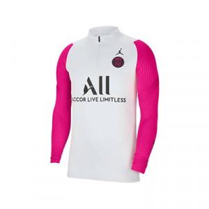 Sudadera Nike PSG entreno 2021 Strike - Sudadera entrenamiento Nike del París Saint-Germain 2021 - gris y rosa - frontal