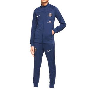 Chándal Nike PSG entrenamiento niño Academy Pro - Chándal infantil Nike del París Saint-Germain - azul marino - frontal
