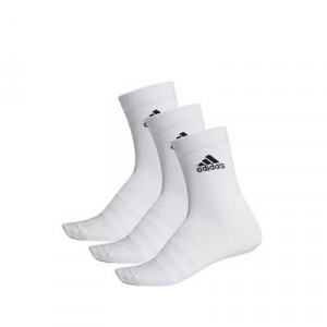 Calcetines media caña adidas Light Crew 3 pares - Pack 3 calcetines de media caña adidas - blancos - frontal