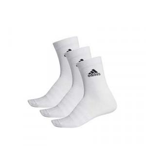 Calcetines adidas 3 pares finos - Pack 3 calcetines de media caña adidas - blancos - frontal