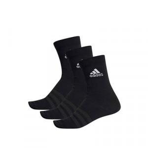 Calcetines adidas 3 pares finos - Pack 3 calcetines de media caña adidas - negros - frontal