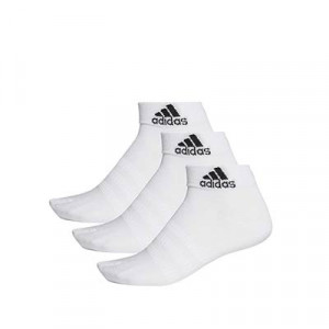 Calcetines adidas 3 pares finos - Pack 3 calcetines tobilleros adidas - blancos - frontal