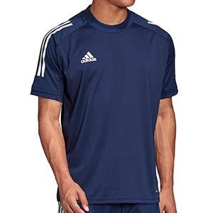 Camiseta adidas Condivo 20 - Camiseta de entrenamiento de fútbol adidas - azul marino - frontal