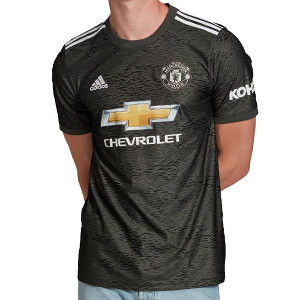 Camiseta adidas 2a United 2020 2021 - Camiseta segunda equipación adidas Manchester United 2020 2021 - verde grisáceo - frontal