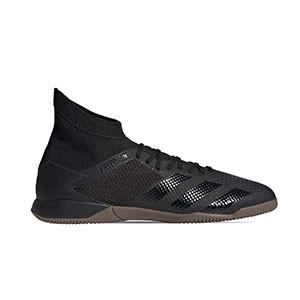 adidas Predator 20.3 IN - Zapatillas de fútbol sala con tobillera adidas suela lisa IN - negras - derecho