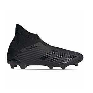 adidas Predator 20.3 LL FG - Botas de fútbol con tobillera sin cordones adidas FG para césped natural o artificial de última generación - negras - derecho