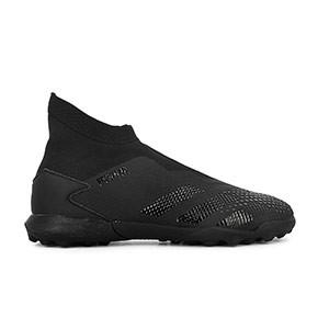 adidas Predator 20.3 LL TF - Zapatillas de fútbol multitaco con tobillera sin cordones adidas suela turf - negras - derecho