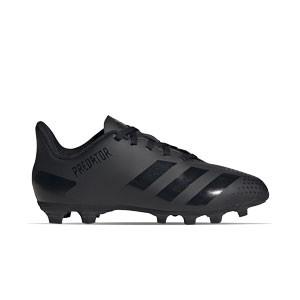 adidas Predator 20.4 FxG J - Botas de fútbol infantiles adidas FxG para multiples terrenos - negras - pie derecho