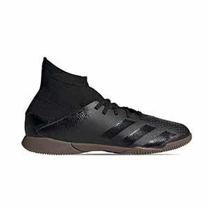 adidas Predator 20.3 IN J - Zapatillas de fútbol sala con tobillera infantiles adidas suela lisa IN - negras - derecho
