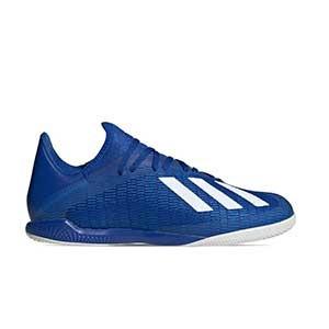adidas X 19.3 IN - Zapatillas de fútbol sala adidas suela lisa IN - azules - derecho