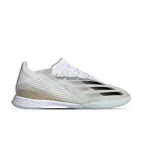 adidas X GHOSTED.1 IN - Zapatillas de fútbol sala adidas suela lisa IN - blanco hueso - pie derecho