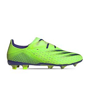 adidas X GHOSTED.2 FG - Botas de fútbol adidas FG para césped natural o artificial de última generación - verde lima - pie derecho