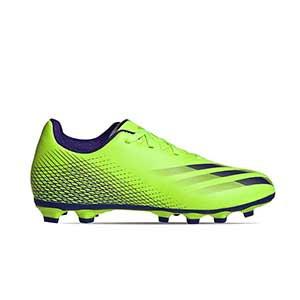 adidas X GHOSTED.4 FxG J - Botas de fútbol infantiles adidas FxG para múltiples terrenos - verde lima - pie derecho