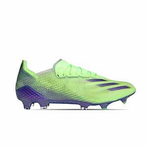 adidas X GHOSTED.1 FG - Botas de fútbol adidas FG para césped natural o artificial de última generación - verde lima - pie derecho