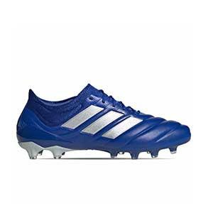 adidas Copa 20.1 AG - Botas de fútbol de piel de canguro adidas FG para césped artificial - azules - pie derecho