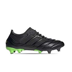 adidas Copa 20.1 FG - Botas de fútbol de piel de canguro adidas FG para césped natural o artificial de última generación - negras - pie derecho