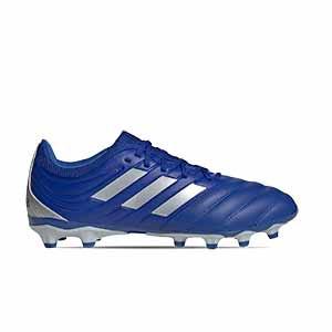 adidas Copa 20.3 MG - Botas de fútbol de piel adidas MG para césped natural o artificial - azules - pie derecho