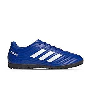 adidas Copa 20.4 TF - Zapatillas de fútbol multitaco adidas suela turf - azules - pie derecho