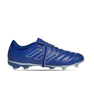 adidas Copa Gloro 20.2 FG - Botas de fútbol de piel adidas FG para césped natural o artificial de última generación - azules - pie derecho