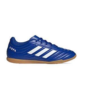 adidas Copa 20.4 IN - Zapatillas de fútbol sala adidas suela lisa IN - azules - pie derecho
