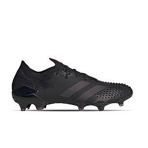 adidas Predator Mutator 20.1 Low FG - Botas de fútbol adidas FG para césped natural o artificial de última generación - negras - pie derecho