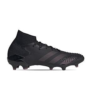 adidas Predator Mutator 20.1 FG - Botas de fútbol con tobillera adidas FG para césped natural o artificial de última generación - negras - pie derecho