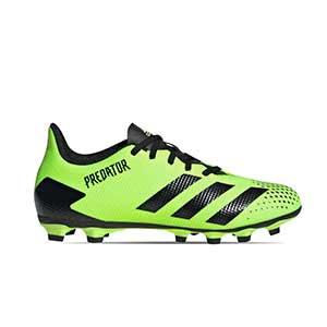 adidas Predator 20.4 FxG - Botas de fútbol adidas FxG para multiples terrenos - verde lima y negras - pie derecho