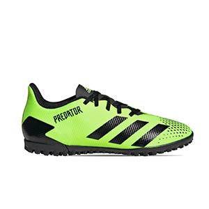 adidas Predator 20.4 TF - Zapatillas de fútbol multitaco adidas suela turf - verde lima - pie derecho
