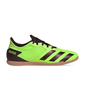 adidas Predator 20.4 IN Sala - Zapatillas de fútbol sala adidas suela lisa IN - verde lima - pie derecho