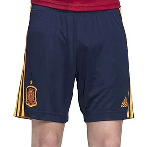 Short adidas España 2020 2021 - Pantalón corto primera equipación selección española 2020 2021 - azul marino - frontal