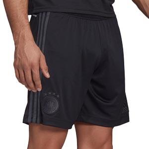 Short adidas 2a Alemania 2021 - Pantalón corto segunda equipación adidas selección alema 2021 - negro - frontal