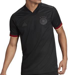 Camiseta adidas 2a Alemania 2021 - Camiseta segunda equipación adidas selección alema 2021 - negra - frontal