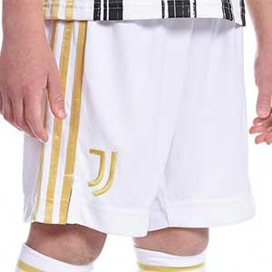 Short adidas Juventus niño 2020 2021 - Pantalón corto infantil primera equipación Juventus 2020 2021 - blanco - frontal