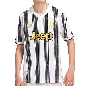 Camiseta adidas Juventus niño 2020 2021 - Camiseta infantil primera equipación adidas Juventus 2020 2021 - blanca y negra - frontal