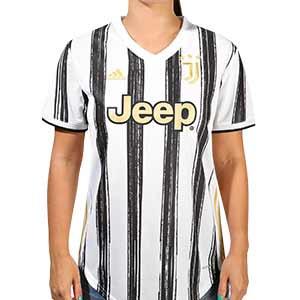 Camiseta adidas Juventus mujer 2020 2021 - Camiseta de mujer primera equipación adidas Juventus 2020 2021 - blanca y negra - frontal
