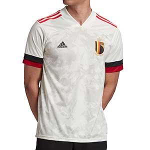 Camiseta adidas 2a Bélgica 2020 2021 - Camiseta segunda equipación selección de Bélgica 2020 2021 - blanca - frontal