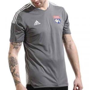 Camiseta adidas Olympique Lyon entrenamiento - Camiseta manga corta entrenamiento adidas Olympique de Lyon - gris - miniatura frontal