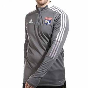 Sudadera adidas Olympique Lyon entrenamiento - Sudadera de entrenamiento adidas del Olympique Lyon - gris - miniatura frontal