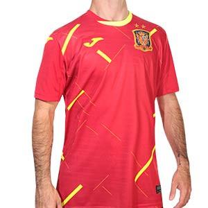 Camiseta Joma España Fútbol Sala 2020 2021 - Camiseta primera equipación selección española de fútbol sala 2020 2021 - roja - frontal
