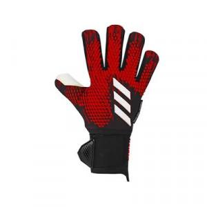 adidas Predator Pro Ultimate - Guantes de portero profesionales con protecciones extraíbles adidas - rojos y negros - frontal derecho