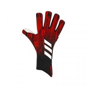adidas Predator Pro FingerSave - Guantes de portero profesionales con protecciones adidas - rojos y negros - frontal derecho