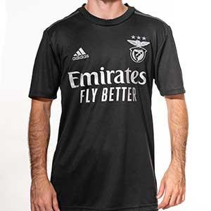 Camiseta adidas 2a Benfica 2020 2021 - Camiseta adidas segunda equipación Benfica 2020 2021 - negra - frontal