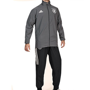 Chándal adidas Alemania 2020 2021 Presentación - Conjunto de chándal adidas de la selección alemana 2020 2021 - gris - frontal
