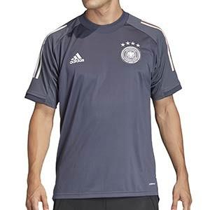 Camiseta adidas Alemania entreno 2020 2021 - Camiseta de manga corta de entrenamiento selección alemana 2020 2021 - gris - frontal