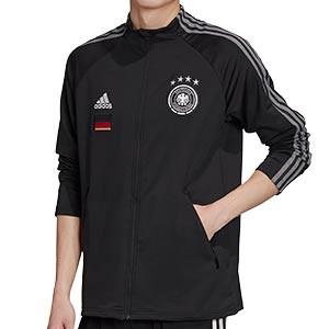 Chaqueta adidas Alemania himno 2020 2021 - Chaqueta himno selección alemana 2020 2021 - negra - frontal
